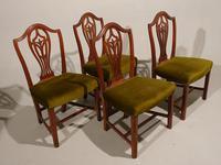 Set of 4 George III Period Hepplewhite Mahogany Chairs (4 of 4)