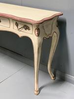 Large French painted console table with drawers (6 of 8)