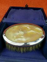 Sterling Silver Hallmarked Small Cased Clothes Brush with Faux Mother of Pearl 1927, Birmingham, G & C Ltd (2 of 12)