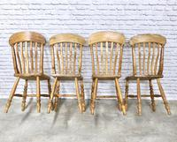 Set of 4 Golden Coloured Lathback Kitchen Chairs (4 of 5)