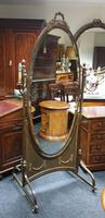 French Gilt Bronze Cheval Mirror (8 of 10)
