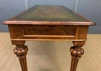 Very Good Victorian Burr Walnut Writing Table (16 of 16)