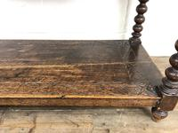 Victorian Gothic Oak Side Table with Green Man Details (4 of 17)