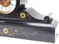 Amazing French Slate Mantel Clock Visible Escapement 8 Day Striking Mantle Clock (9 of 14)