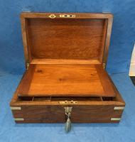Victorian Brassbound Figured Walnut Writing Slope (11 of 18)