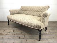 Victorian Three Piece Suite with Gold Floral Upholstery (16 of 26)
