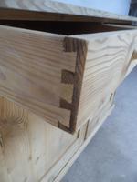 Victorian Large Antique Pine 2 Door 2 Drawer Dresser Base to wax / paint (8 of 9)