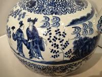 19th Century Blue & White Dutch Delft Flagon / Ewer (6 of 14)