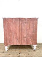 Small Distressed White Painted Victorian Chest of Drawers (10 of 10)