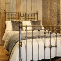 Late Victorian Cast Iron, Steel & Brass Antique Bed (2 of 9)