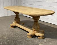 French Bleached Oak Monastery Dining Table (3 of 30)
