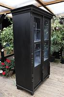 Fabulous Old Pine / Black Painted Glazed Cupboard / Display Cabinet - We Deliver! (7 of 12)