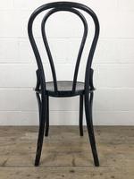 Set of Four Ebonised Bentwood Café Chairs (8 of 14)