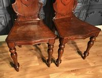 Pair of Victorian Mahogany Hall Chairs 318 (10 of 14)