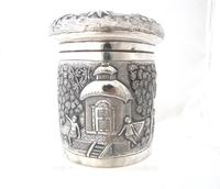 Outstanding quality Bhowanipore antique silver lidded pot Calcutta c 1890 (7 of 11)