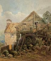 William Charles Goddard (exh.1885) Stunning Country Watermill Landscape Painting (10 of 15)