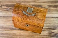 Burr Walnut Tea Caddy 1870 (5 of 10)