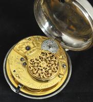 Superb Antique Silver Pair Case Pocket Watch Fusee Verge Escapement Key Wind Enamel Dial Johnson London (3 of 8)