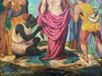Pair of 19th Century Religious Old Master Oil Paintings - Set of 14 Available (11 of 32)