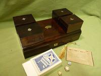 French Inlaid Rosewood Games Box + Accessories c.1880 (8 of 11)
