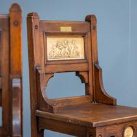 Pair of Arts & Crafts Hall Chairs (2 of 13)