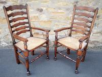 Set of 12 Oak Ladder Back Dining Chairs - Royal Oak Furniture (9 of 15)