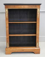 19th Century Walnut Open Bookcase