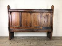 Antique Victorian Pitch Pine Curved Back Pew or Settle (2 of 16)