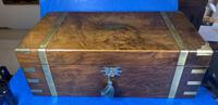 Victorian Brass-bound Walnut Writing Slope with Secret Drawers (38 of 39)
