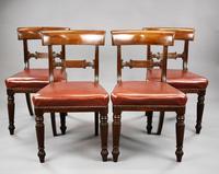 Set of 4 George III Mahogany Dining Chairs