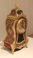 Small French Tortoiseshell and Brass inlay Mantel Clock (8 of 12)