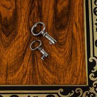 Superb William IV Brass Inlaid Kingwood Writing Box by Edwards (13 of 17)