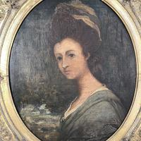Antique Georgian Early Victorian Oil Painting Portrait of a Society Lady (5 of 10)