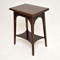 Antique Mahogany Tea / Card Table (5 of 12)