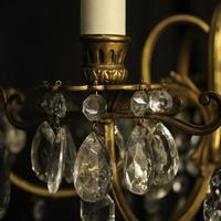 Italian Gilded & Crystal 6 Light Antique Chandelier (4 of 10)
