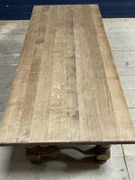 Deep Bleached Oak French Farmhouse Dining Table (8 of 20)