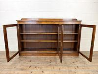 19th Century Glazed Walnut Bookcase (6 of 14)