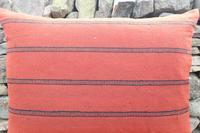 Swedish 'Folk Art' Vintage Large Woven Röllakan Cushion c.1930 (8 of 26)