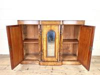 Victorian Inlaid Walnut Credenza with Marble Top (6 of 10)