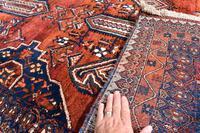 Old Afshar Carpet 305x209cm (4 of 9)
