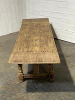 Nice Large Bleached Oak Farmhouse Dining Table With Extensions (30 of 35)