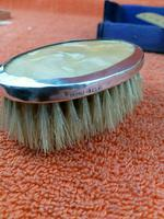 Sterling Silver Hallmarked Small Cased Clothes Brush with Faux Mother of Pearl 1927, Birmingham, G & C Ltd (7 of 12)