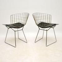 Pair of Vintage Wire Chairs by Harry Bertoia (4 of 10)