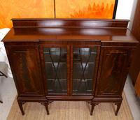 Edwardian Bookcase Inlaid Mahogany Glazed (5 of 7)