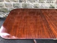 Antique Mahogany Twin Pillar Extending Dining Table (5 of 11)