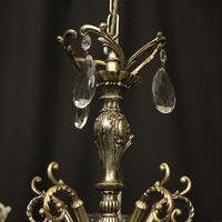 Italian 5 Light Silver Gilded Chandelier (8 of 10)