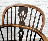 Pair of Named Windsor Lowback Armchairs, F Walker of Rockley (5 of 8)