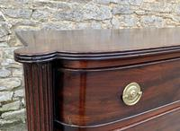Regency Mahogany Bow Fronted Column Chest of Drawers (13 of 21)