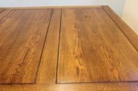 Large Antique Oak Extending Drawleaf Dining Table (4 of 15)