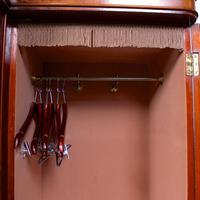 Triple Breakfront Wardrobe Mirrored Mahogany 19th Century (8 of 13)